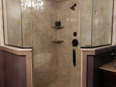Carrara Empress Sand with Percia and Euro door